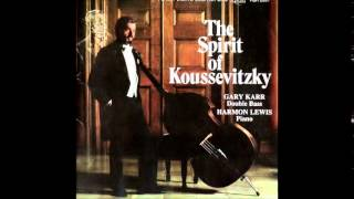Sergej Koussevitzky Double-Bass Concerto with Orchestra, Gary Karr