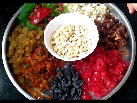 Fruit Soaking in 4-5 hours for Non-Alcoholic Christmas Cake