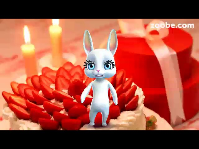 Видео заяц поздравляет с днем рождения