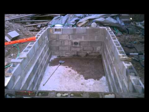 Homebuilt Diy Concrete Block Swimming Pool How To Save Money And Do It Yourself