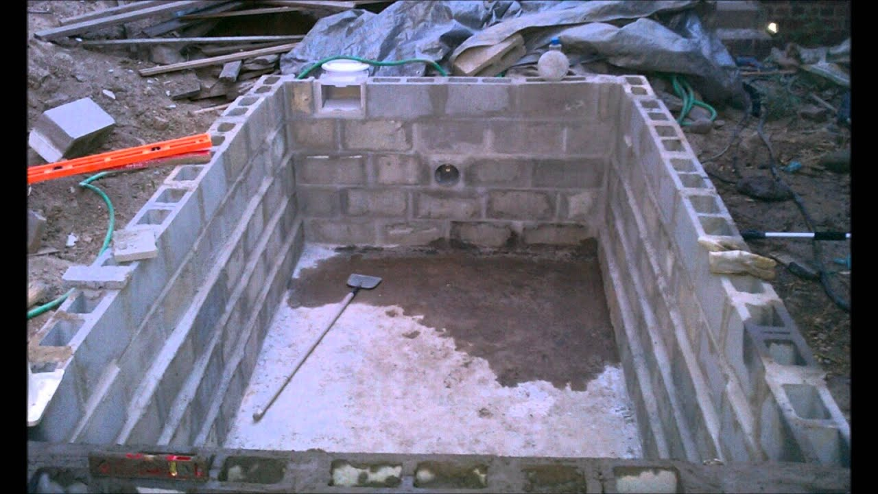 Summer 2011 diy lap pool project youtube - Cinder block swimming pool construction ...