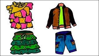 Boys & Girls Dresses - Drawing & Coloring