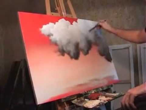 Time Lapse landscape painting Red Sky, Clouds, by Tim Gagnon