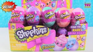 Shopkins Surprise Easter Eggs Full Box Opening Mini Eggs Hunt Toy Review | PSToyReviews