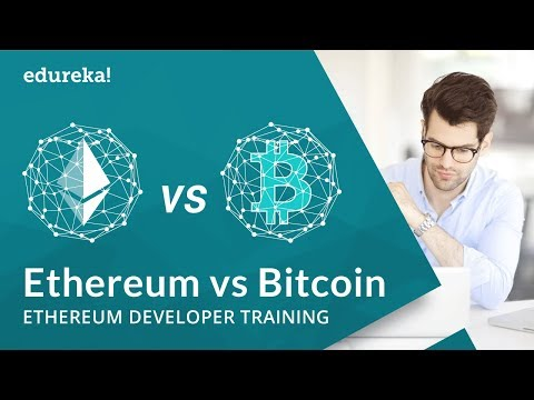 Ethereum vs Bitcoin Technical Differences | Which Blockchain Technology is Better? | Edureka