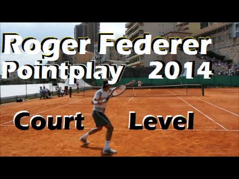 Roger Federer Playing Points 2014-COURT LEVEL VIEW