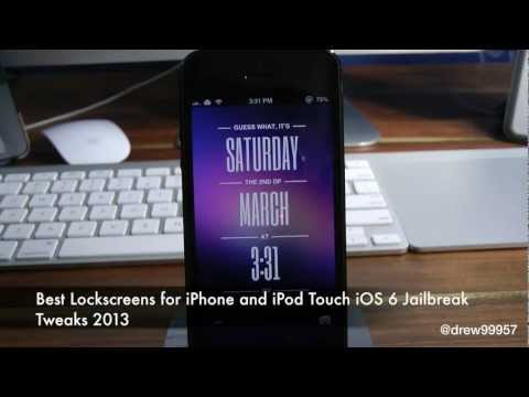 Best Lockscreens for iPhone and iPod Touch iOS 6 Jailbreak Tweaks 2013
