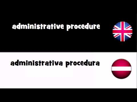 Header of Administrative Procedure
