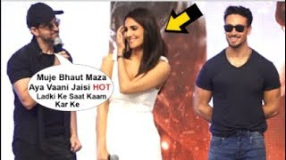 Hrithik Roshan FLIRTING With  Vaani Kapoor In Front Of Tiger Shroff At War Movie Press Conference
