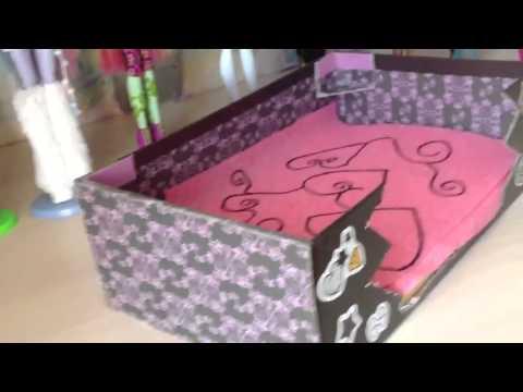 Как сделать своими руками кровать для кукол монстер хай из картона 76