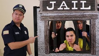 Funny Aunties \u0026 Uncle Gets LOCKED UP in Pretend Jail
