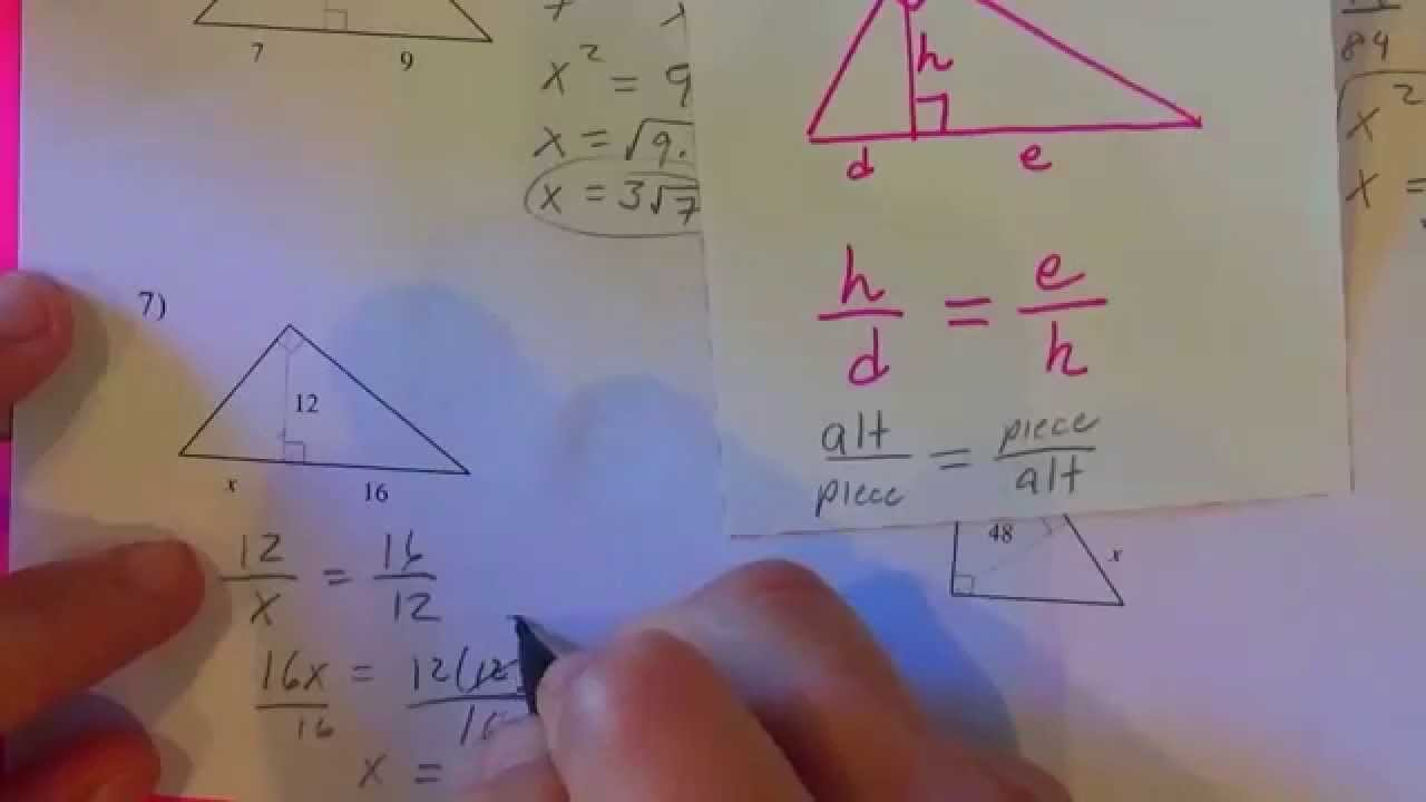 Geometric mean worksheet kuta