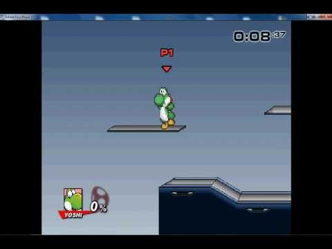 SSF2 v0. 8a Break The Targets Yoshi — 8:37 Seconds