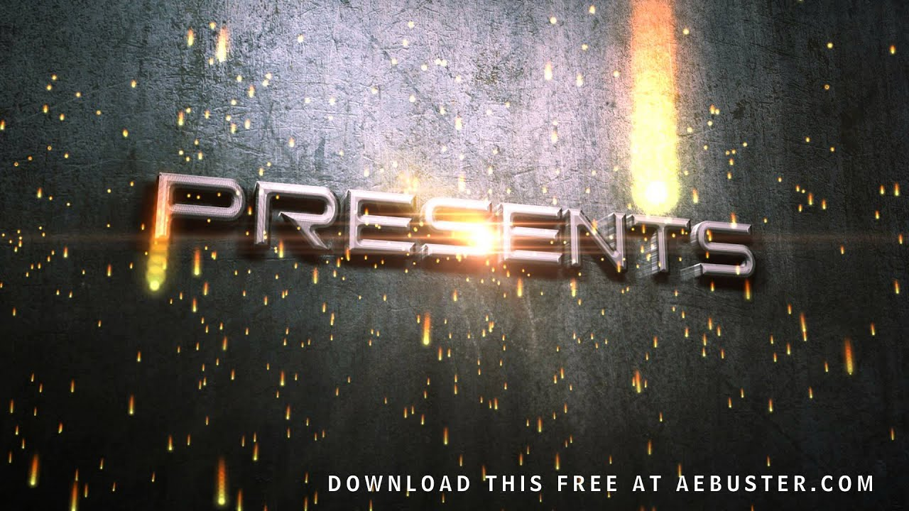 free movie titles intro after effects youtube
