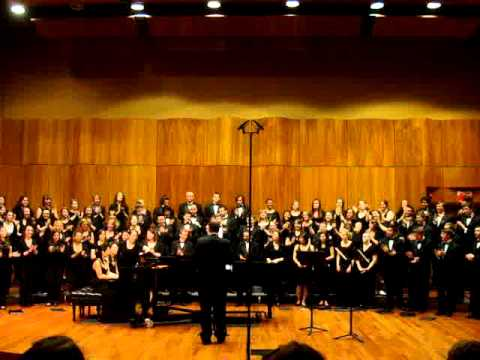 "College of Saint Rose Masterworks Chorale singing ""Cindy"""