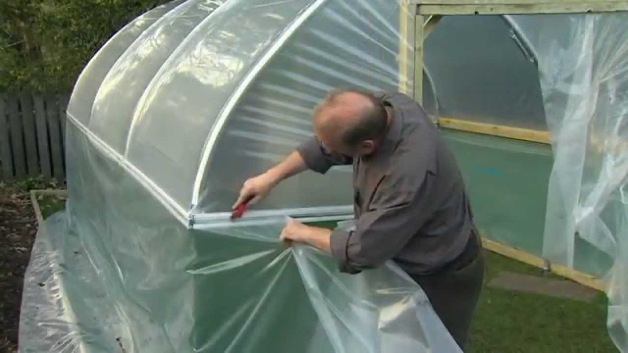 Fitting The Polythene Cover V28 Youtube