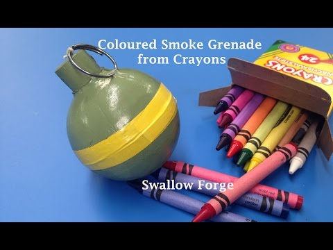 How to make Coloured smoke from Wax Crayons. Smoke bomb/ grenade for paintball. airsoft.. etc