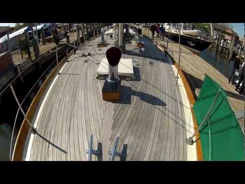 Sparkman Stephens 1962 Classic Yawl built by Abeking & Rasmussen toured by ABKvideo