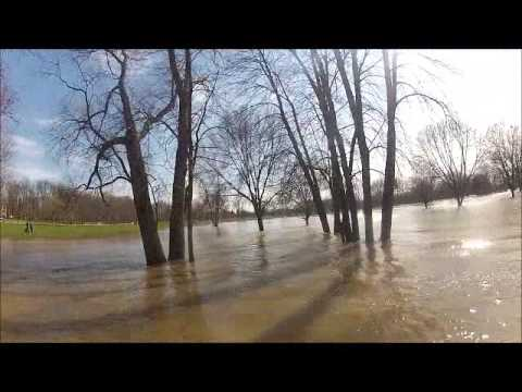 4-21-13 flooded grand river river jet ski ride