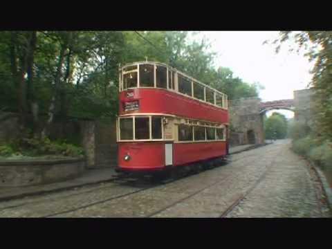 London Transport E1 tramcar slipping on wet rails