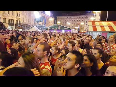 Croatian football fans during the match against England - Zagreb - main square - Croatia thumbnail