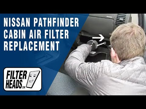 Cabin air filter replacement nissan pathfinder youtube for Interieur filter
