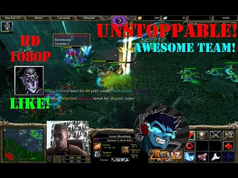 ★DoTa Luna, Moon Rider - GamePlay   Guide★Unstoppbale! Awesome Team!★