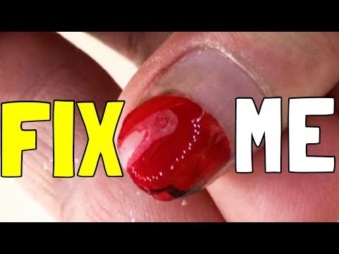 ☑️PERFECT TRANSFORMATION OF EXTREMELY BROKEN NAILS Quick & Easy AT HOME!  DIY: EASY FAKE NAILS!