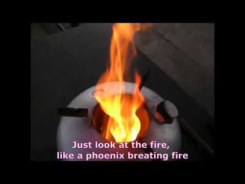 Phoenix Rocket Stove : Starting The Fire