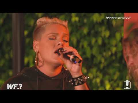 """P!nk """"What About Us"""" (Acoustic) LIVE at World Famous Rooftop 2017"""