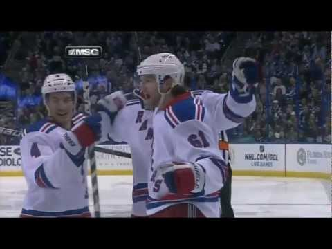 Rick Nash Goal (NY Rangers vs Tampa Bay Lightning, Feb 2, 2013) NHL HD