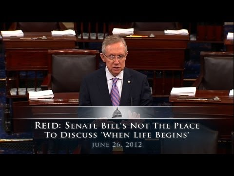 Reid: Senate Bill's Not The Place To Discuss 'When Life Begins'