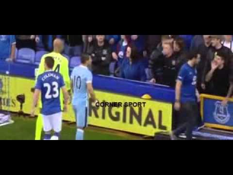 SERGIO AGUERO HELP ILL EVERTON FAN  Everton VS Manchester City