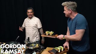 Gordon Ramsay Cooks Breakfast Tacos with Aarón Sanchez | Scrambled