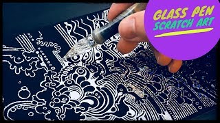 Drawing with Peter Draws: Glass Pen Scratchboard Art