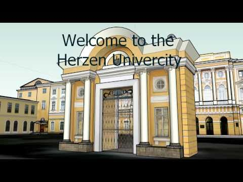 Herzen University 3D map demonstration