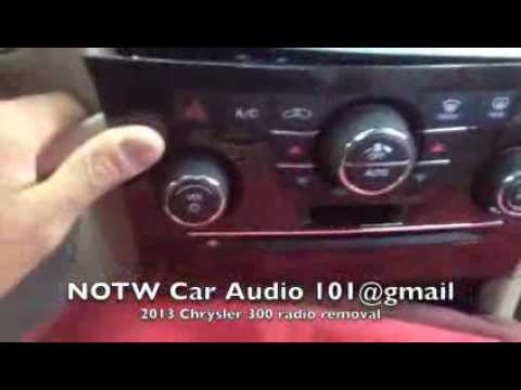 how to remove 2011-2014 Chrysler 300 radio/screen