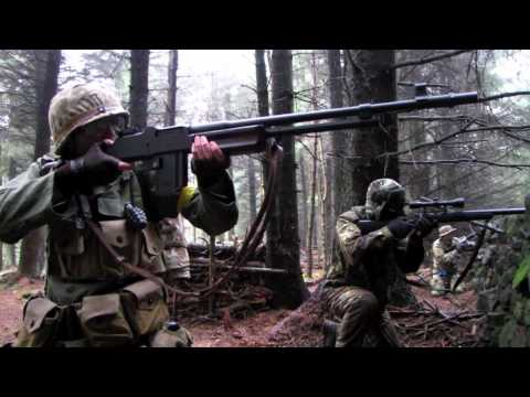 Airsoft War BAR 1918 Thompson M1A1 POW Scotland HD