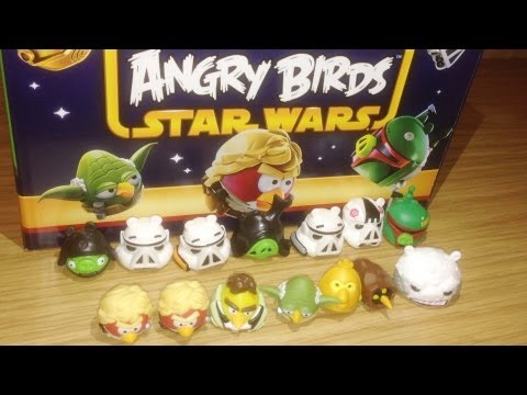 Review 021 Angry Birds Star Wars Series 2 Blind Bag Mini Figures Complete Collection