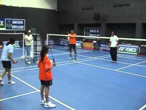 P.V Sindhu U-19 Gold Medalist conducts a Badminton clinic at Manav Rachna Sports Academy