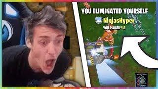 5 Times Ninja Eliminated Himself In Fortnite: Battle Royale (RAGE)