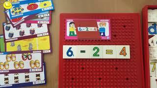Bộ học chữ và số bằng nhựa cho bé