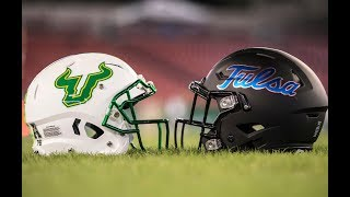 2018 American Football Highlights - #23 USF 25, Tulsa 24