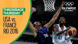 USA vs France - Basketball | Rio 2016 - Condensed Game | Throwback Thursday