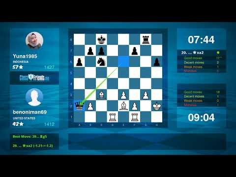 Chess Game Analysis: benoniman69 Yuna1985 : 01 (By ChessFriends.com)