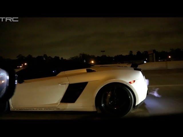 TX2K14 - INSANE 1800hp Gallardo races Alpha 16 GTR on the ...