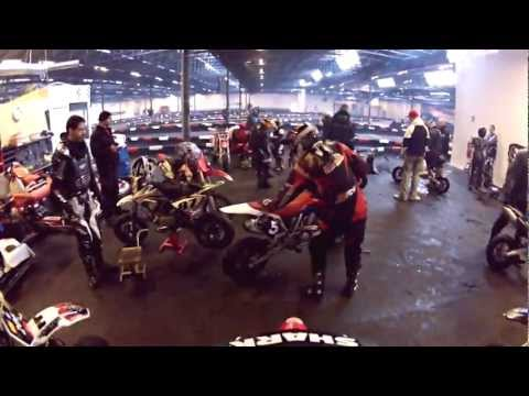 Helmet Cam by René Christensen http://www.supermotard.dk A bunch of Danish Supermotard riders came together in Svenstrup GoKart World in Denmark just before Christmas 2012. Along them they...