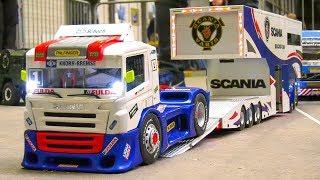 STUNNING RC TRUCK SCANIA RACE TRUCK TRANSPORT!! RC TRUCK 8x8 HEAVY WEIGHT TRANSPORT