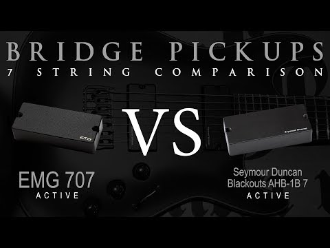 EMG 707 vs BLACKOUTS 7 - Seven String Active Bridge Pickup Guitar Tone Comparison / Review