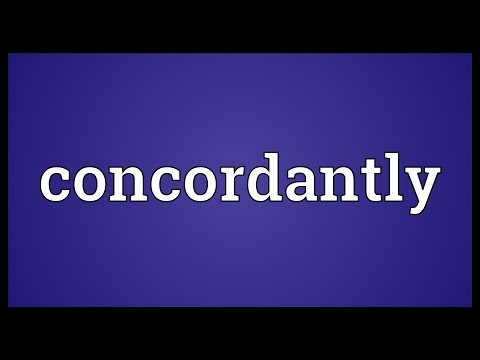 Header of concordantly